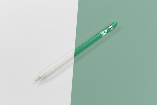 Alto angolo di penna per tornare a scuola