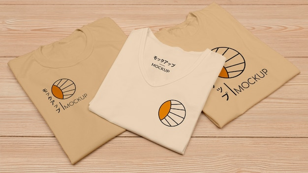 High angle of t-shirt concept mock-up