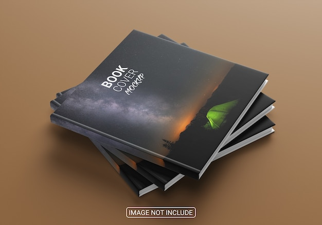 High angle view mockup of a book cover