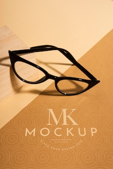 High angle of vision glasses mock-up