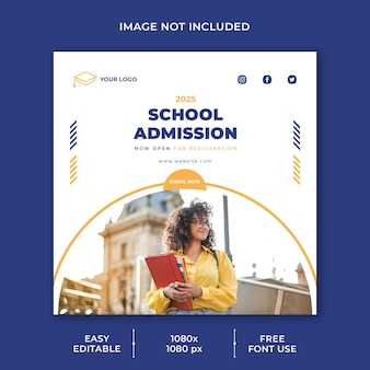 High school admission social media template