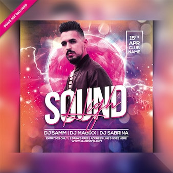 High sound party flyer