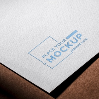 High view business card mock-up