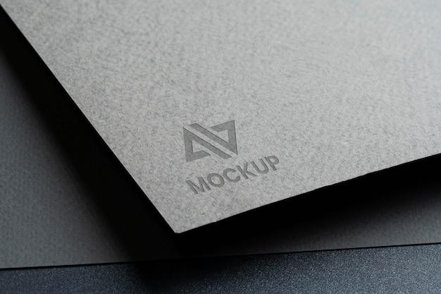 Logo mock-up di identità aziendale ad alta vista