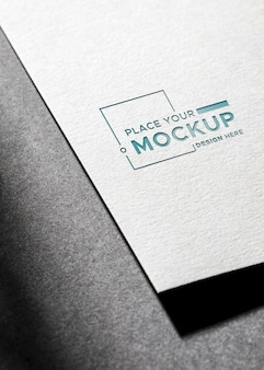 High view shadows of business card mock-up