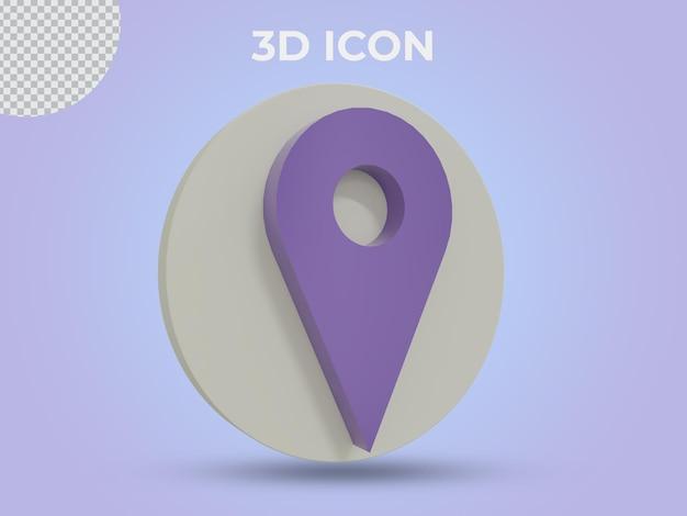 고품질 3d 렌더링된 위치 투명 아이콘 디자인