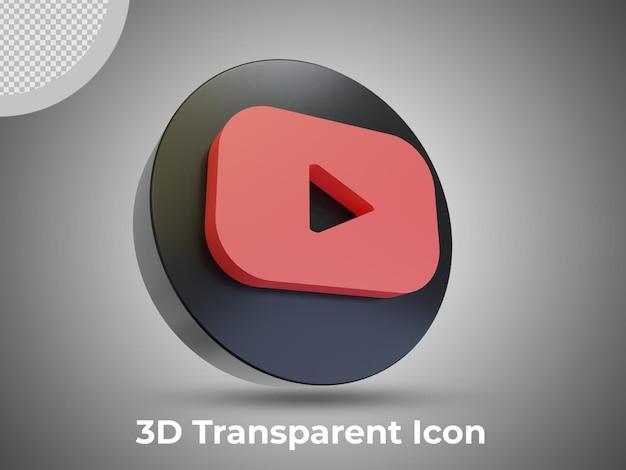 Высокое качество 3d изолированных значок youtube