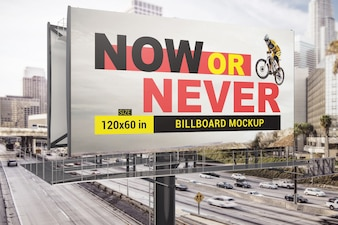 Highway billboard mockup