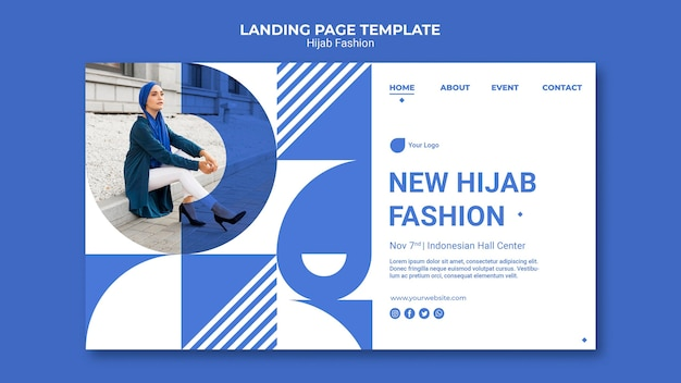 Hijab fashion landing page