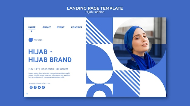 Hijab fashion web template