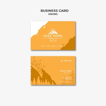 Hike concept business card template
