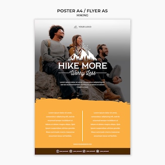 Hike concept poster template