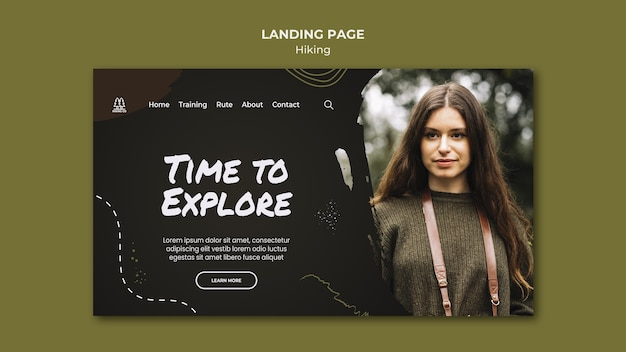 Hiking ad landing page template