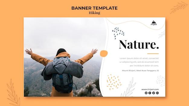 Шаблон баннера туристического приключения