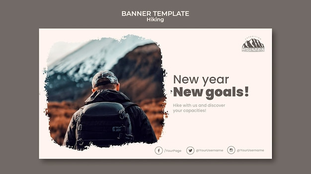 Hiking banner template