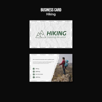 Hiking business card template