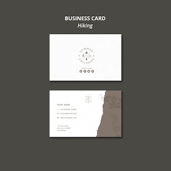 Hiking concept business card template