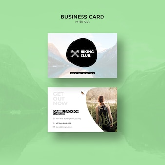 Hiking concept business cardtemplate