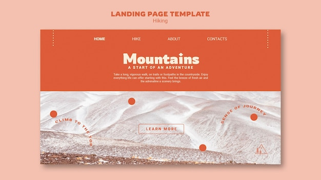 Hiking landing page template