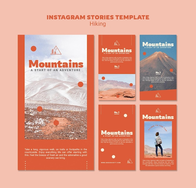 Hiking social media stories