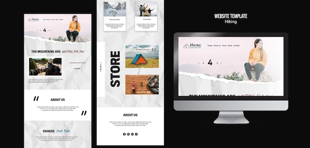 Hiking store landing pages template