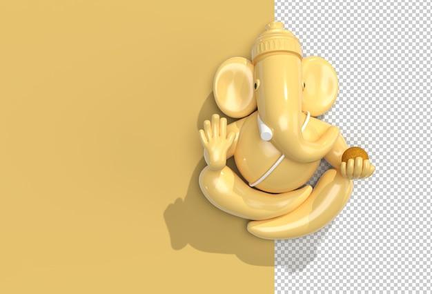 Hindu god ganesha statue- hindu religion festival concept elephant