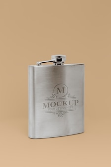 Hip flask design mockup