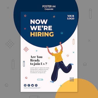 Hiring announcement poster template