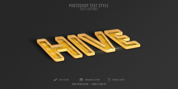 Hive text style effect template design