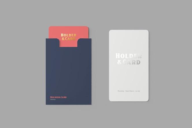 홀더 및 카드 모형