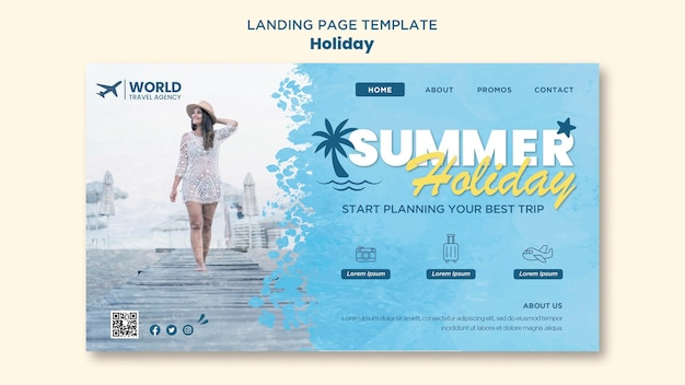 Holiday landing page