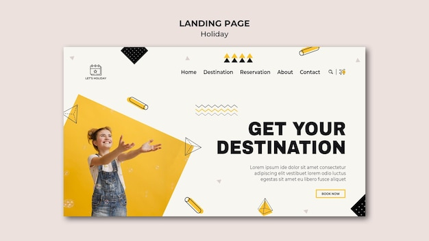 Holiday party landing page template