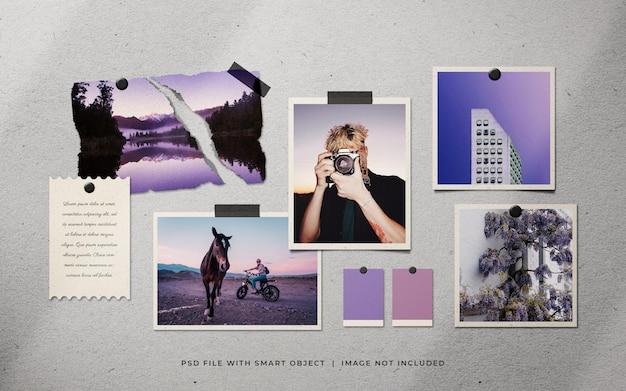 Holiday photo frame set mockup