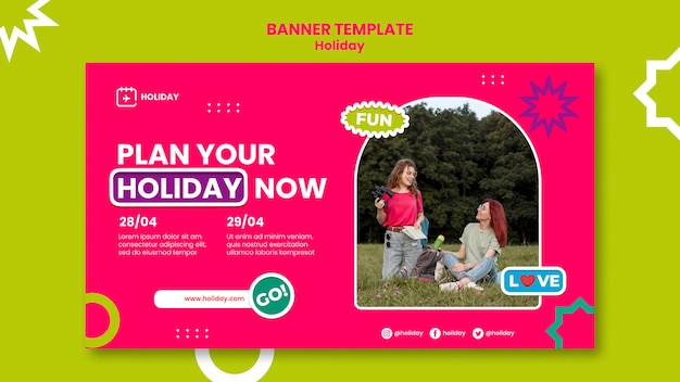 Holiday planning banner template