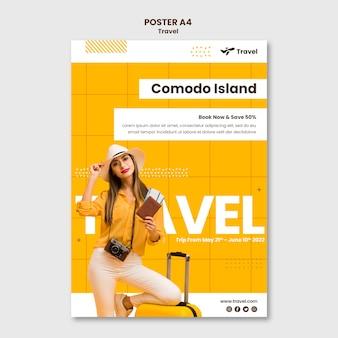 Modello di poster di vacanza