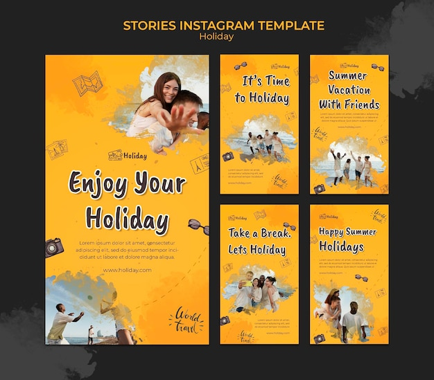 Holiday social media stories