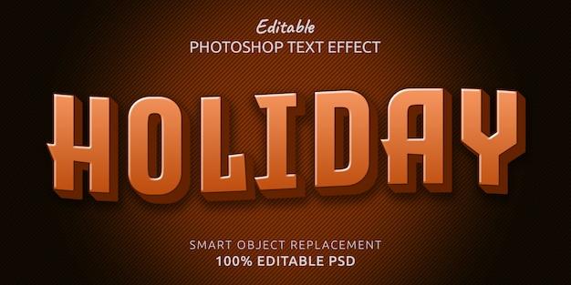 Шаблон праздничного текстового эффекта