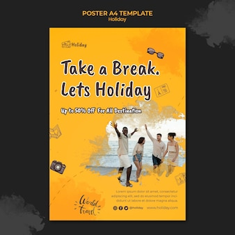 Holiday vertical print template
