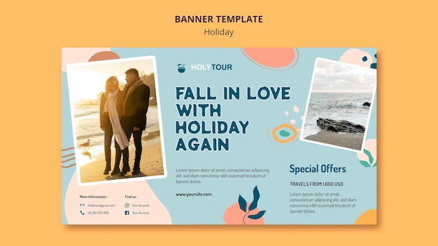 Holidays banner template