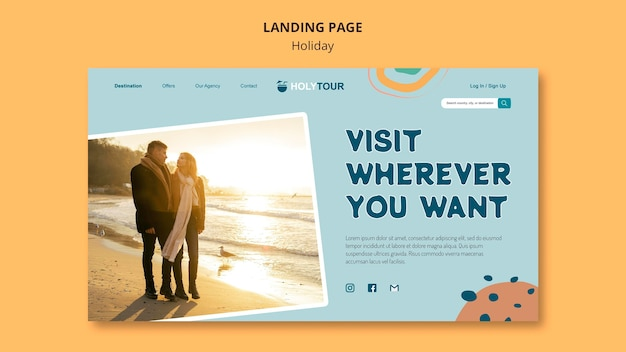 Holidays landing page web template
