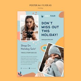 Modello di poster di vacanze