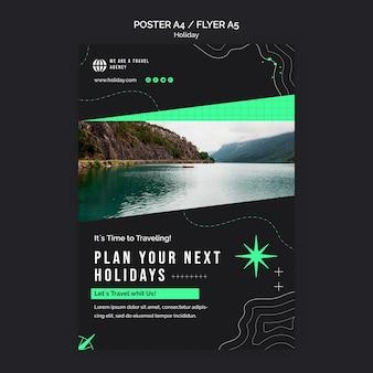 Modello di stampa delle vacanze con foto