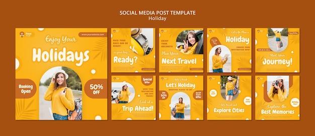 Holidays social media posts