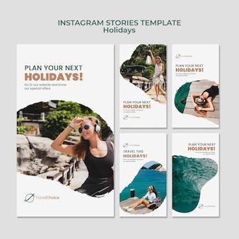 Holidays social media stories