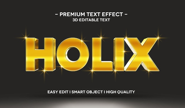 Шаблон с трехмерным текстовым эффектом holix