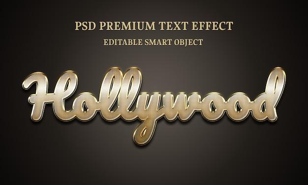 Голливудский текстовый эффект портрет красивой женщины