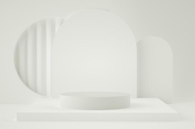 Голографическая 3d геометрическая сцена для размещения продукции