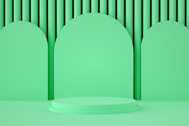제품 배치를위한 홀로그램 3d 기하학적 스테이지