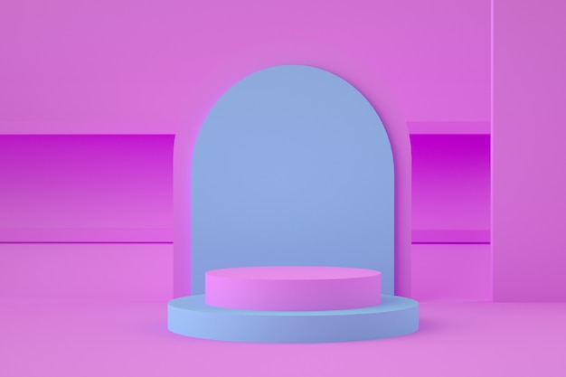 Holographic 3d geometric stage for product placement