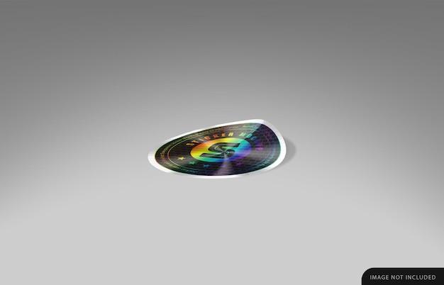 Holographic sticker mockup
